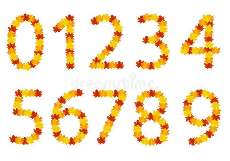 Download Números De Folhas Do Outono Ilustração do Vetor - Ilustração de alfabeto, gráfico: 26503394