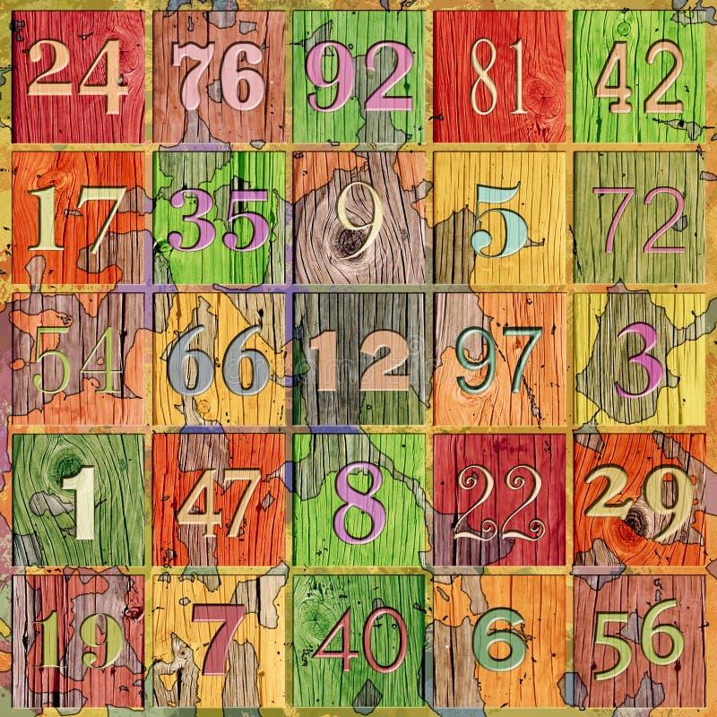 Números de Grunge imagenes de archivo