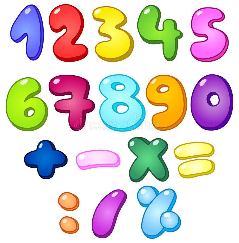 números de la burbuja 3d stock de ilustración
