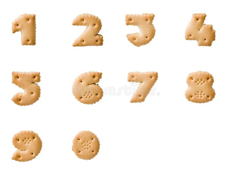 Números de la galleta imagen de archivo