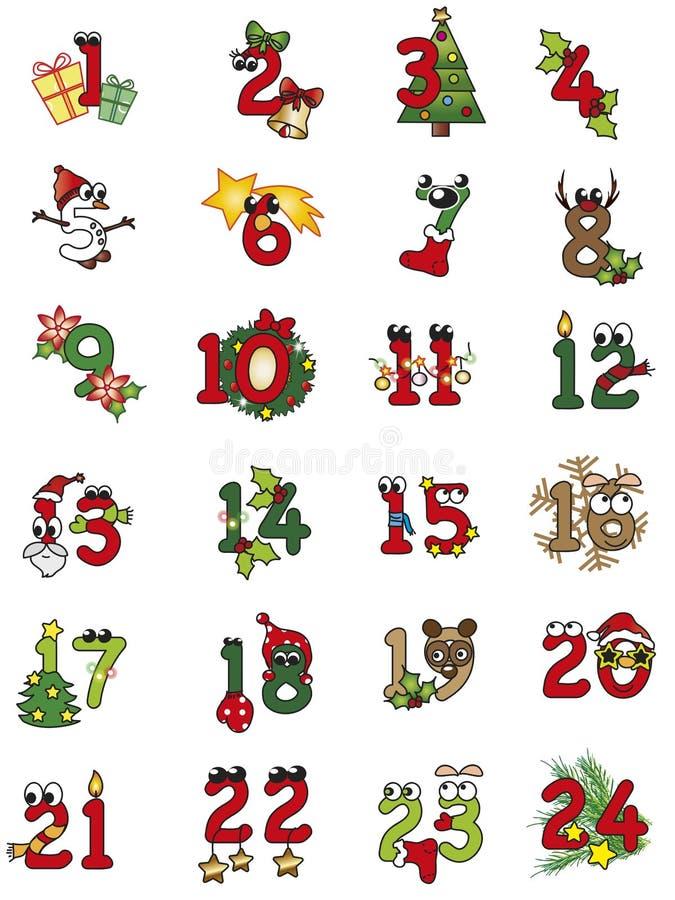 Números de la Navidad stock de ilustración