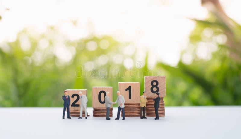 Números de madeira 2018 imagens de stock royalty free