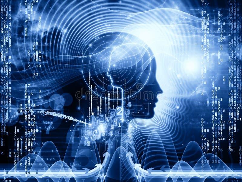 Números de mente humana ilustración del vector