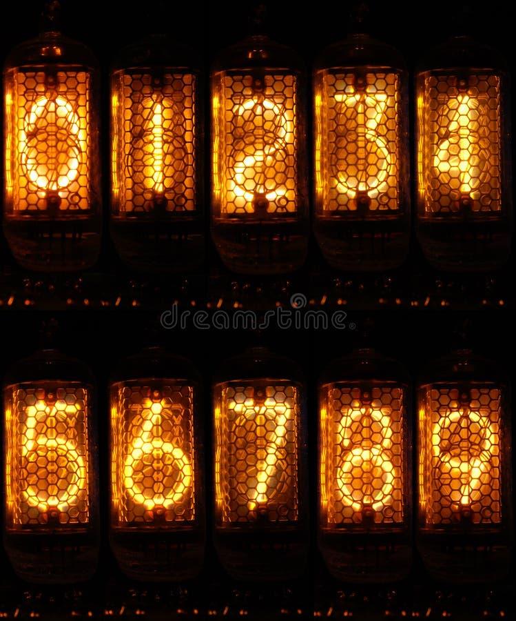 Números de Nixie imagem de stock