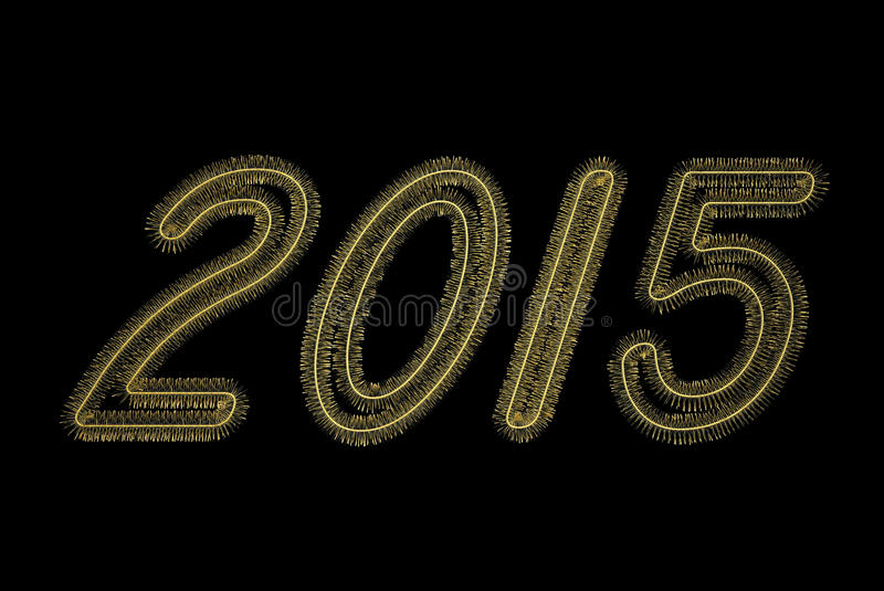 2015 números de oro de malla stock de ilustración