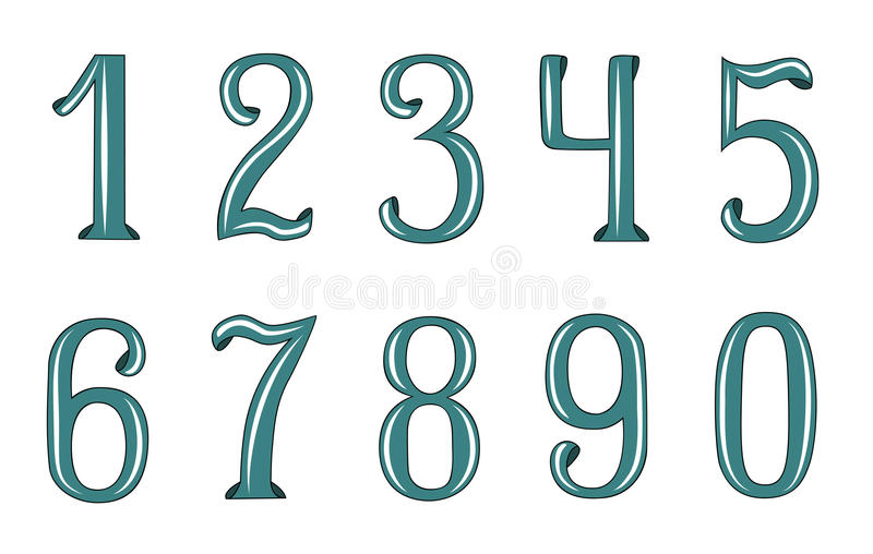 Números decorativos fotos de archivo