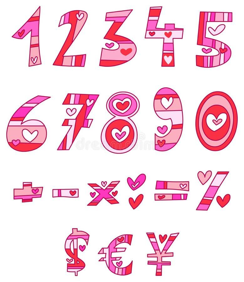 Números del amor libre illustration