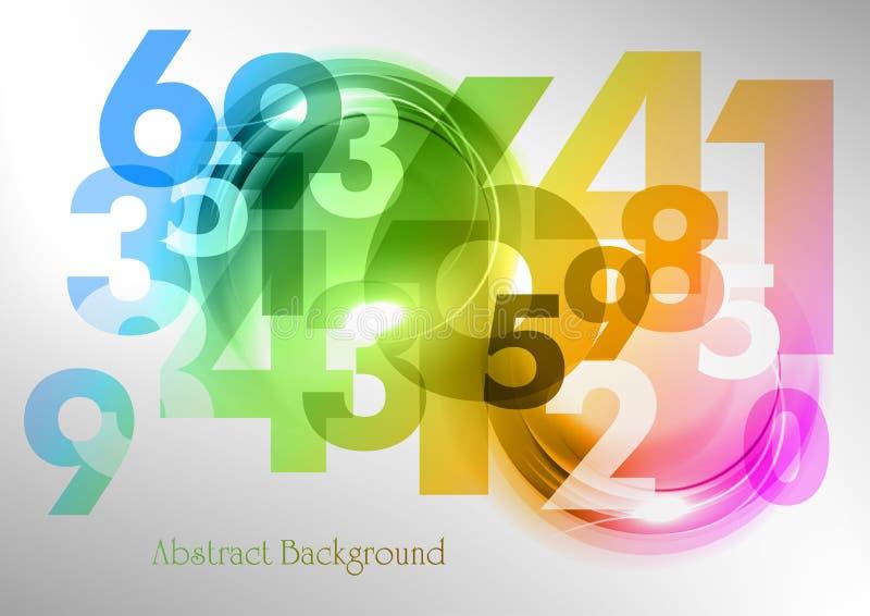Números del arco iris stock de ilustración