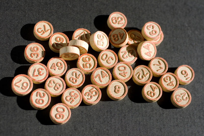 Números del bingo imagenes de archivo