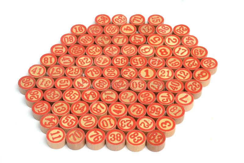 números del bingo foto de archivo