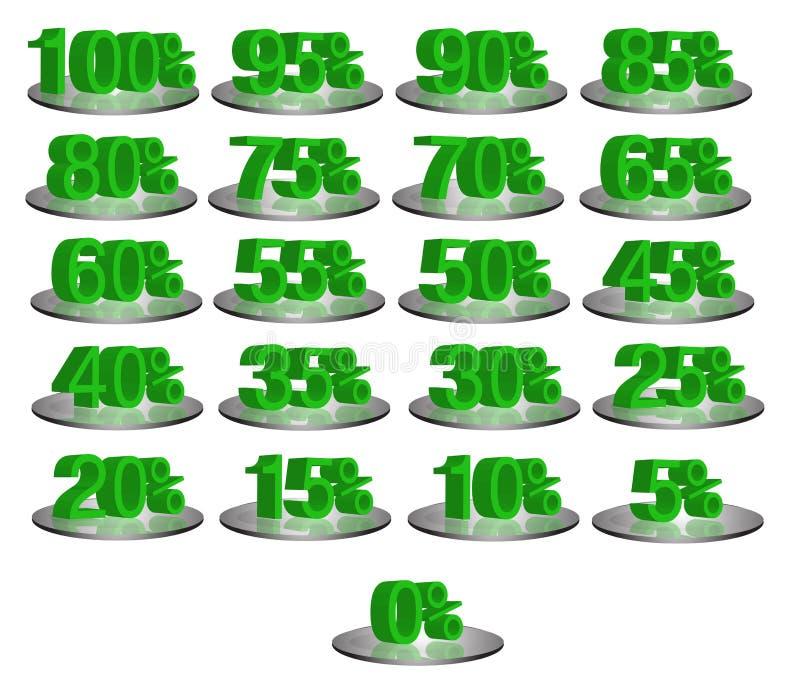 Números del descuento imagenes de archivo