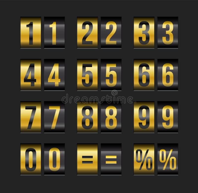 Números del marcador stock de ilustración
