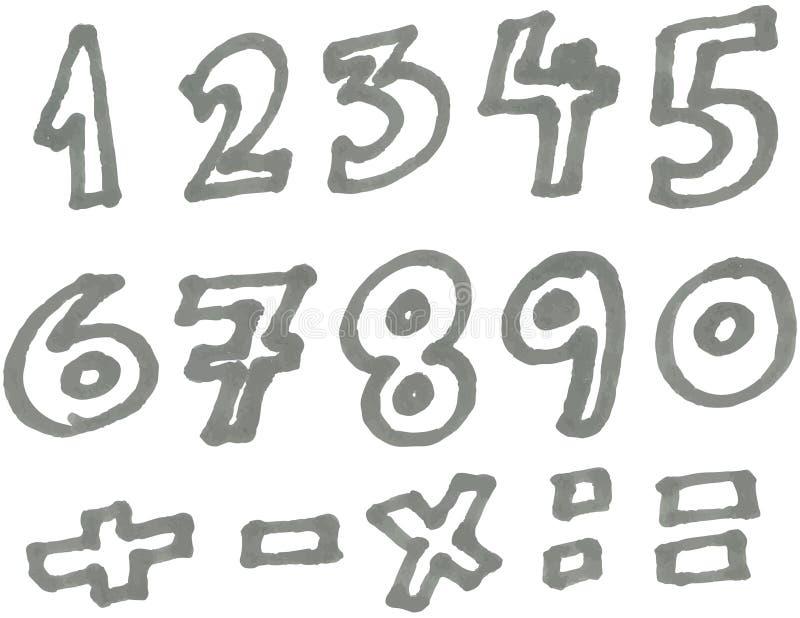 Números del marcador ilustración del vector