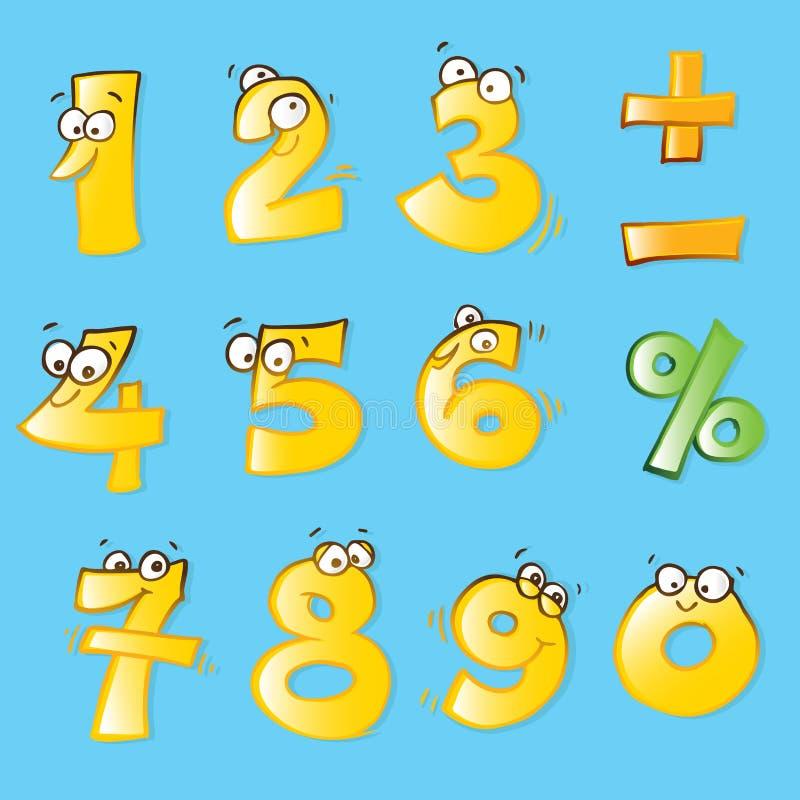 Números divertidos ilustración del vector