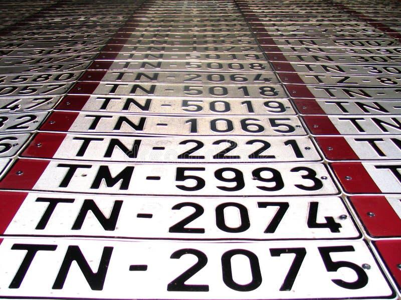 Números do carro imagens de stock