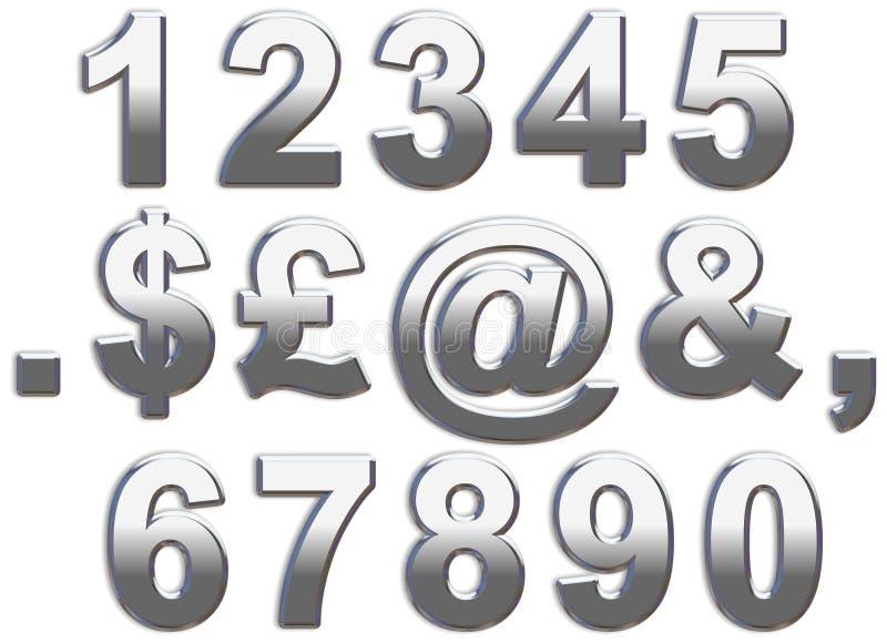 Números do cromo ilustração royalty free