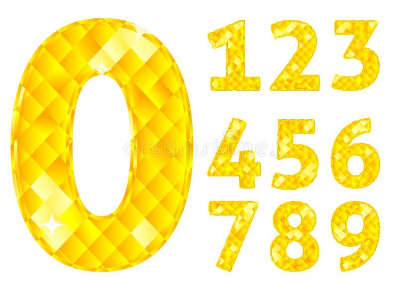 Números do diamante ilustração stock