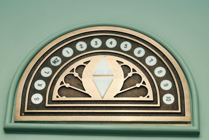 Números do elevador fotografia de stock royalty free