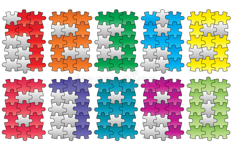Números do enigma ilustração stock