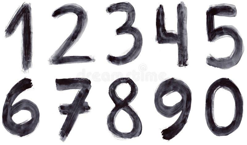 Números do Grunge ilustração stock