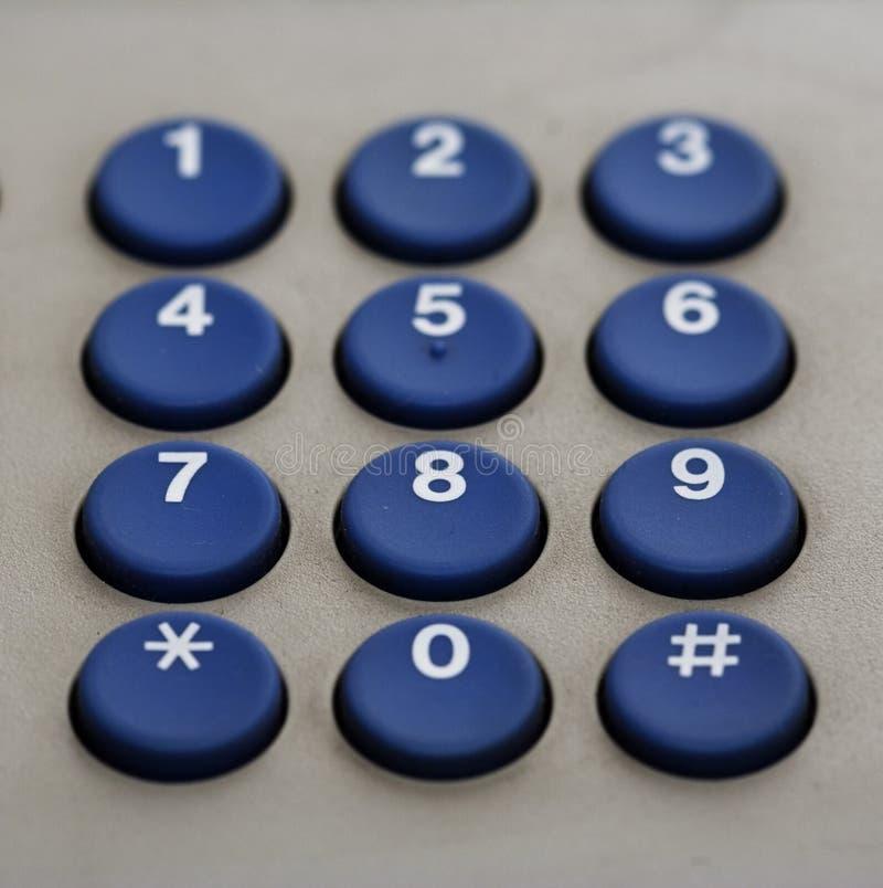 Números do teclado do telefone imagem de stock