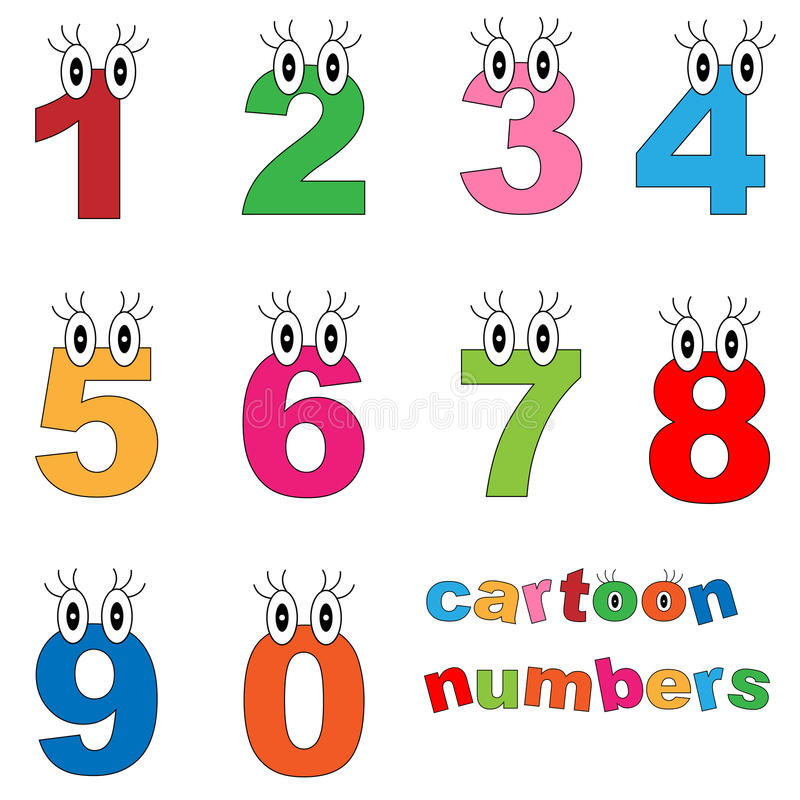 Números dos desenhos animados ilustração royalty free