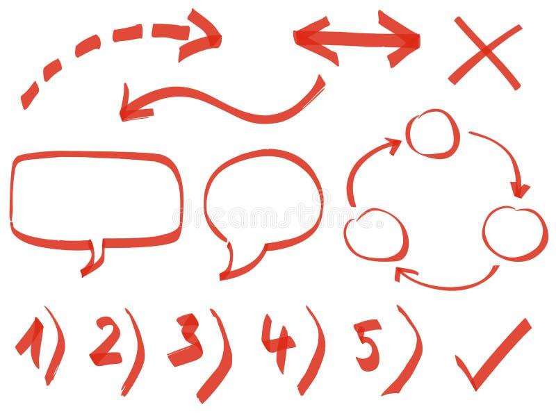 Números e elementos do projeto ilustração do vetor