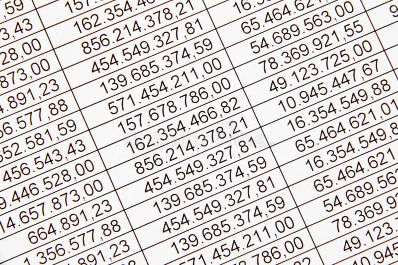 Números em um balanço imagem de stock royalty free