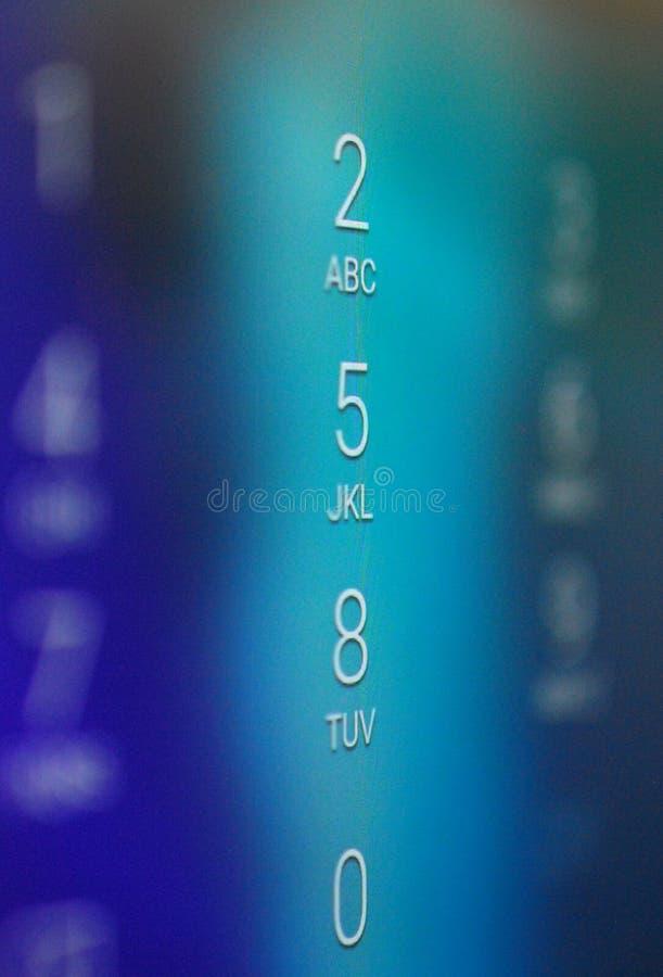 Números em um smartphone, dof raso de Unclock foto de stock royalty free