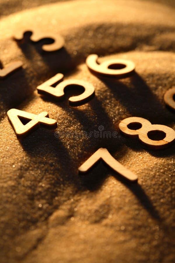 Números en la arena foto de archivo libre de regalías