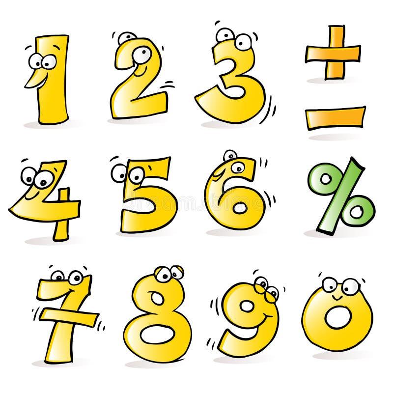 Números engraçados ilustração stock