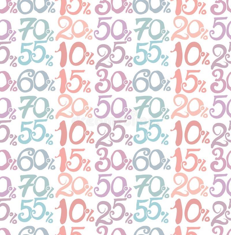 Números escritos à mão ilustração stock