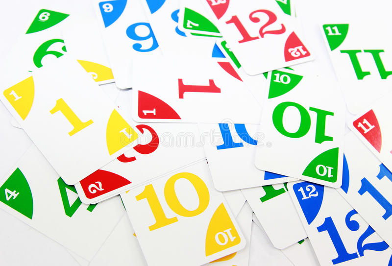 Números Flashcards fotografía de archivo