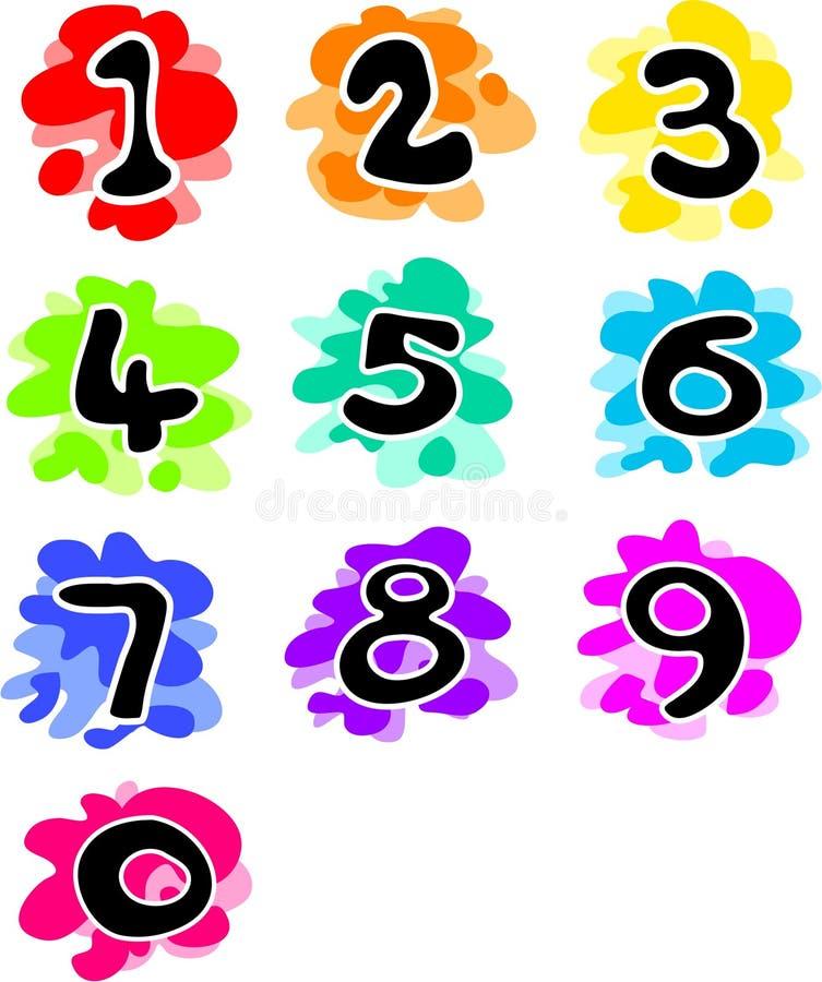Números Funky ilustração do vetor