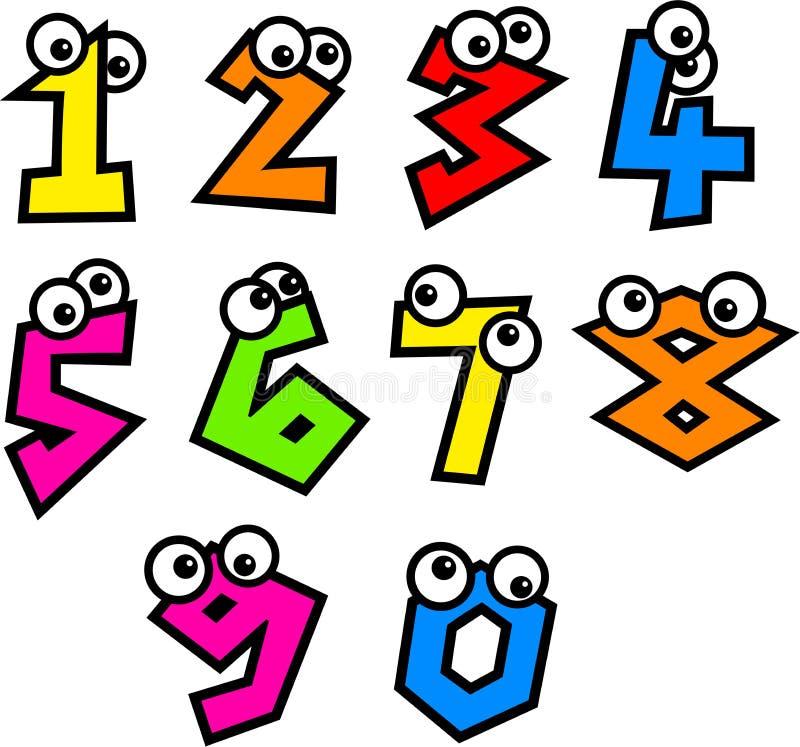 Números Funky ilustração stock