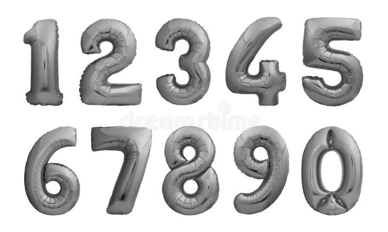 Números hechos de globos inflables negros ilustración del vector