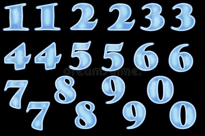 Números helados a partir de la 1 a 10 stock de ilustración
