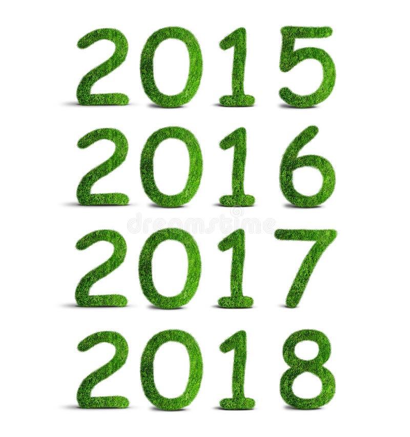 Números herbarios 2015, 2016, 2017 y 2018 libre illustration