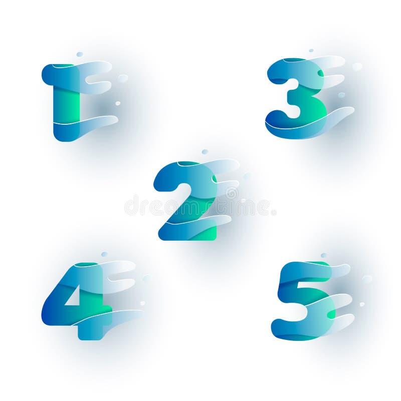 1-5 números ilustração stock