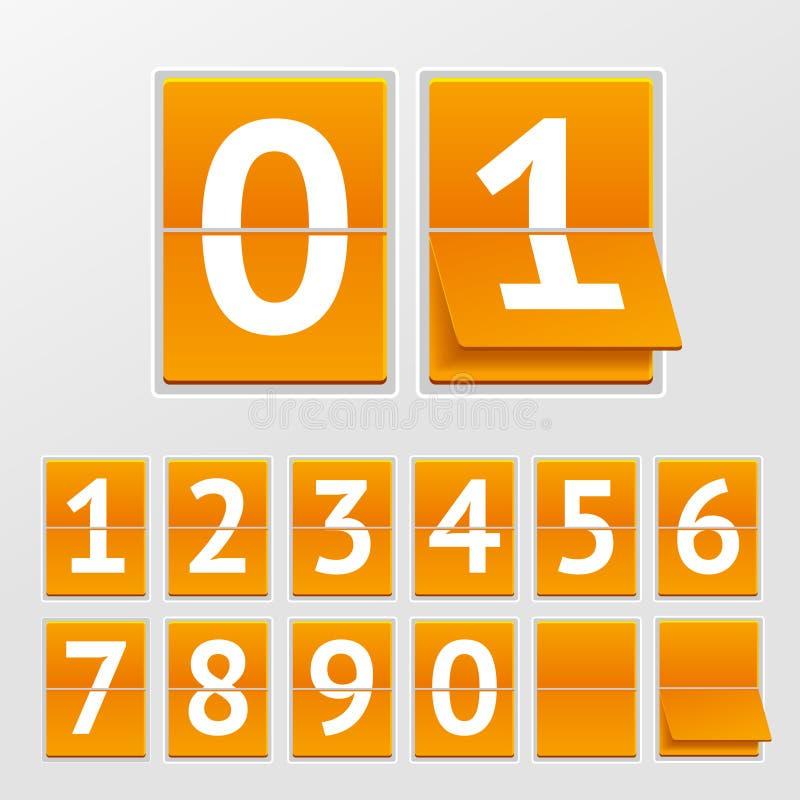 Números mecânicos do calendário do vetor ilustração royalty free