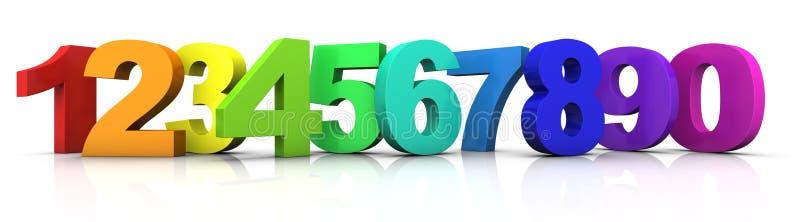 Números multicolores libre illustration