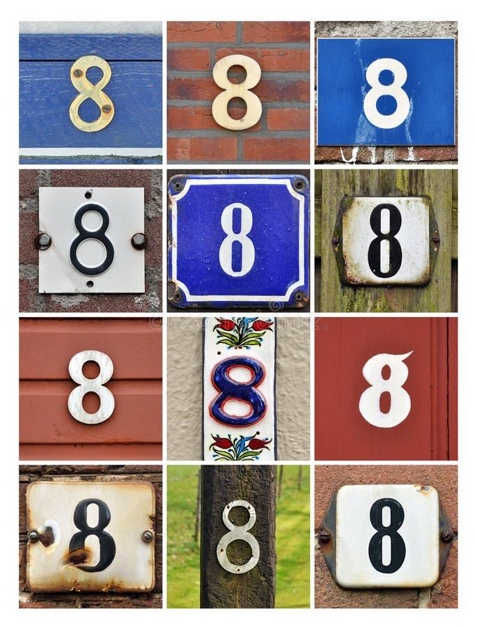 Números ocho imagenes de archivo