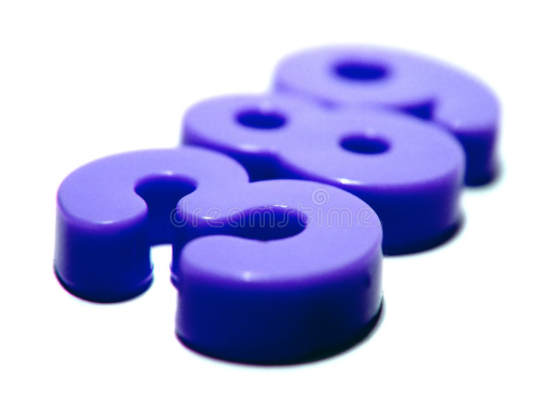 Números plásticos roxos fotos de stock royalty free