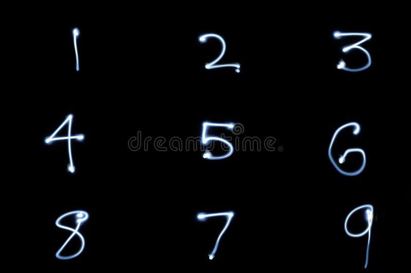 Números que brillan intensamente libre illustration