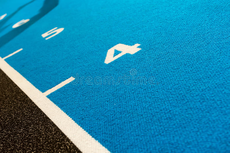 Números que cuentan en la pista para el CrossFit foto de archivo libre de regalías