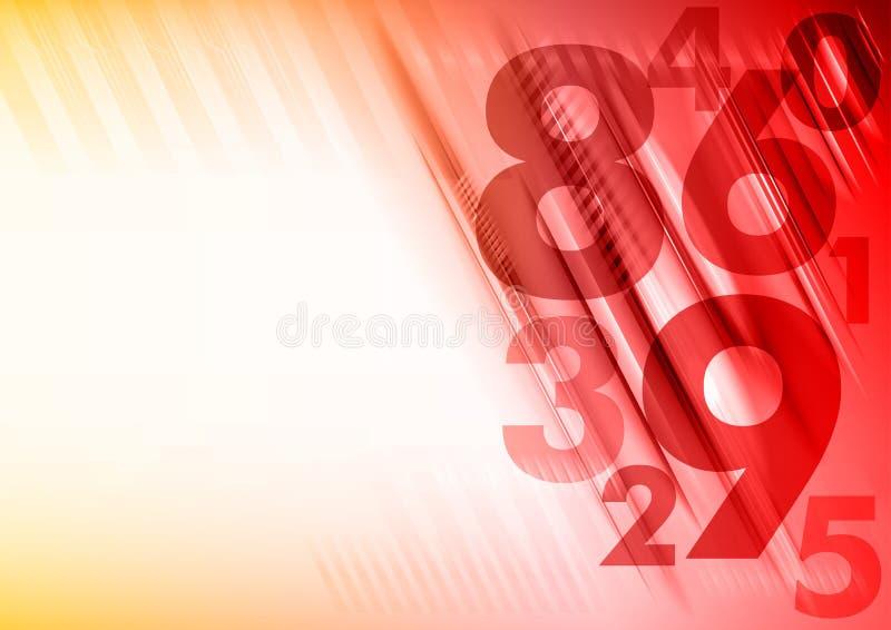 Números rojos stock de ilustración