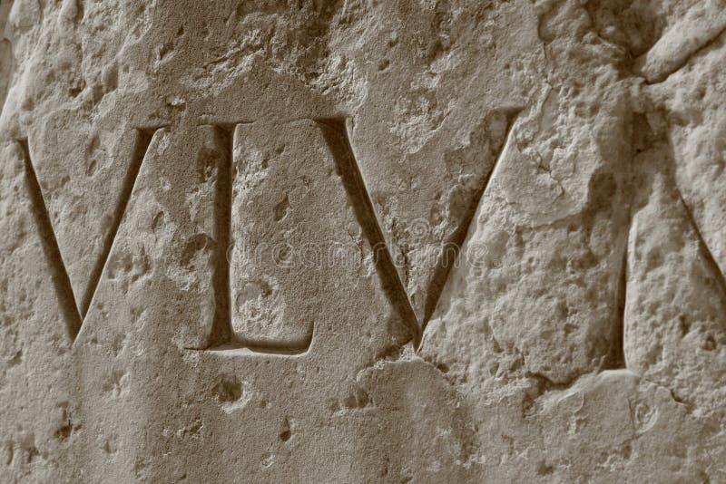 Números romanos, coliseo romano fotos de archivo libres de regalías