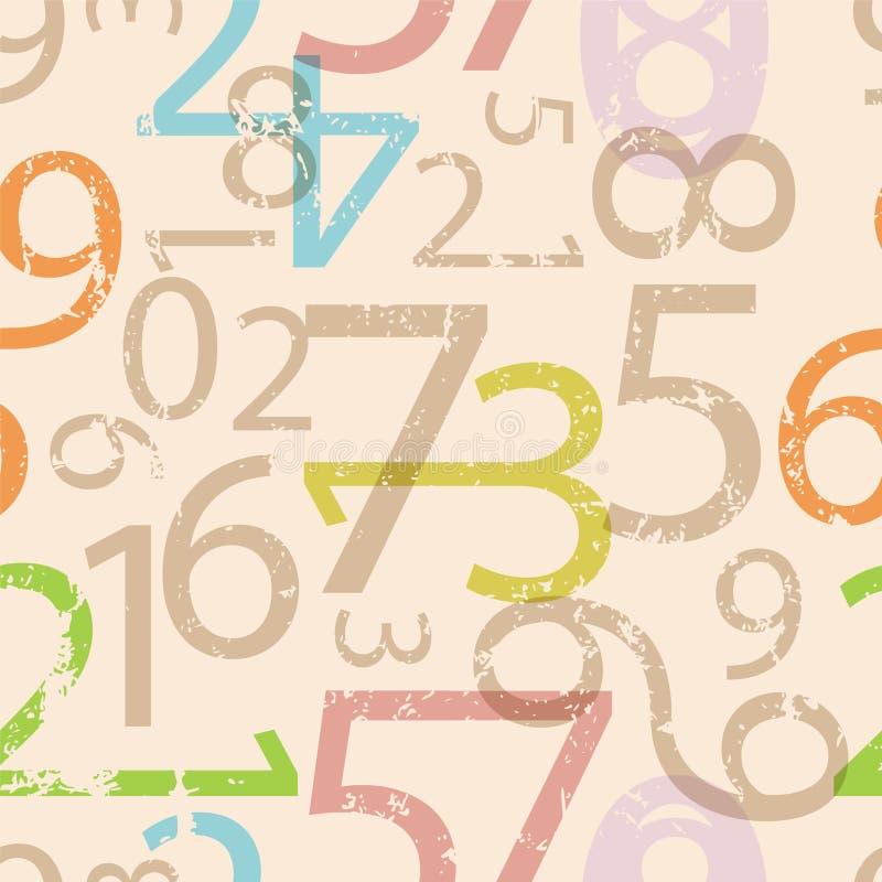 Números sem emenda teste padrão, ilustração do vetor ilustração royalty free
