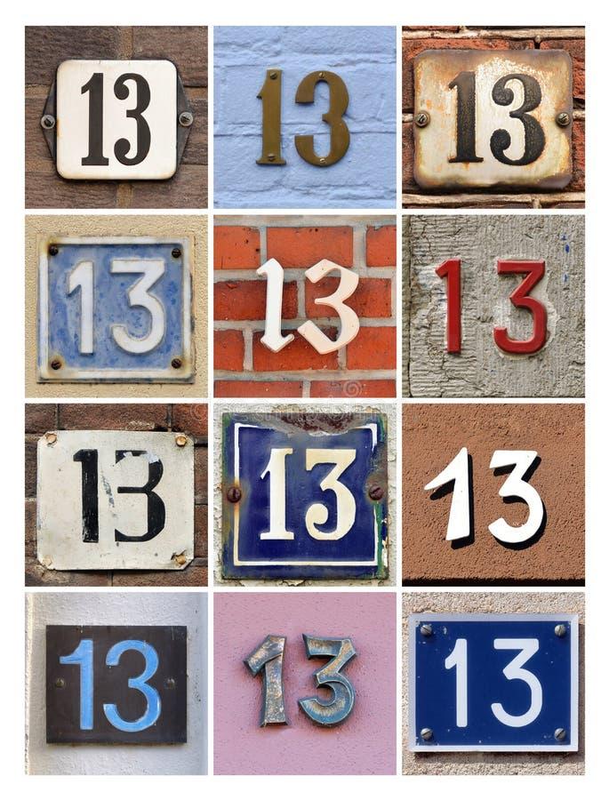 Números trece imagenes de archivo