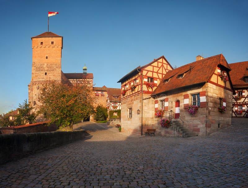 Nürnberg-Schloss in Deutschland stockfotos